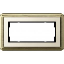 Рамка 2-модульная Gira ClassiX бронза/кремовый 1002623