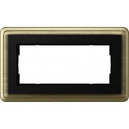 Рамка 2-модульная Gira ClassiX бронза/черный 1002622