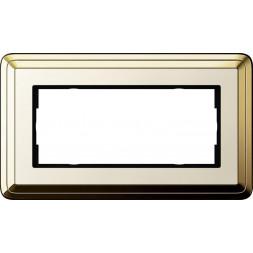 Рамка 2-модульная Gira ClassiX латунь/кремовый 1002633