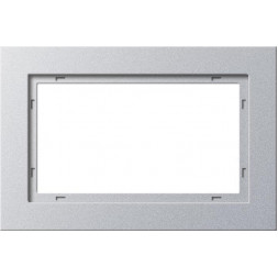 Рамка 2-модульная Gira E2 алюминий 100225
