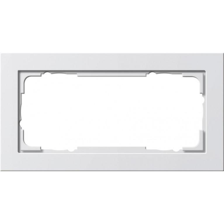 Рамка 2-модульная Gira E2 чисто-белый глянцевый 100229