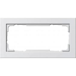Рамка 2-модульная Gira E2 чисто-белый шелковисто-матовый 100222