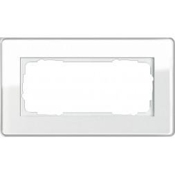 Рамка 2-модульная Gira Esprit C белое стекло 1002512