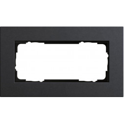 Рамка 2-модульная Gira Esprit Lenoleum-Multiplex антрацит 1002226