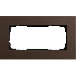 Рамка 2-модульная Gira Esprit Lenoleum-Multiplex коричневый 1002223