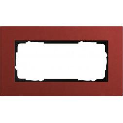 Рамка 2-модульная Gira Esprit Lenoleum-Multiplex красный 1002229