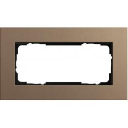 Рамка 2-модульная Gira Esprit Lenoleum-Multiplex светло-коричневый 1002221