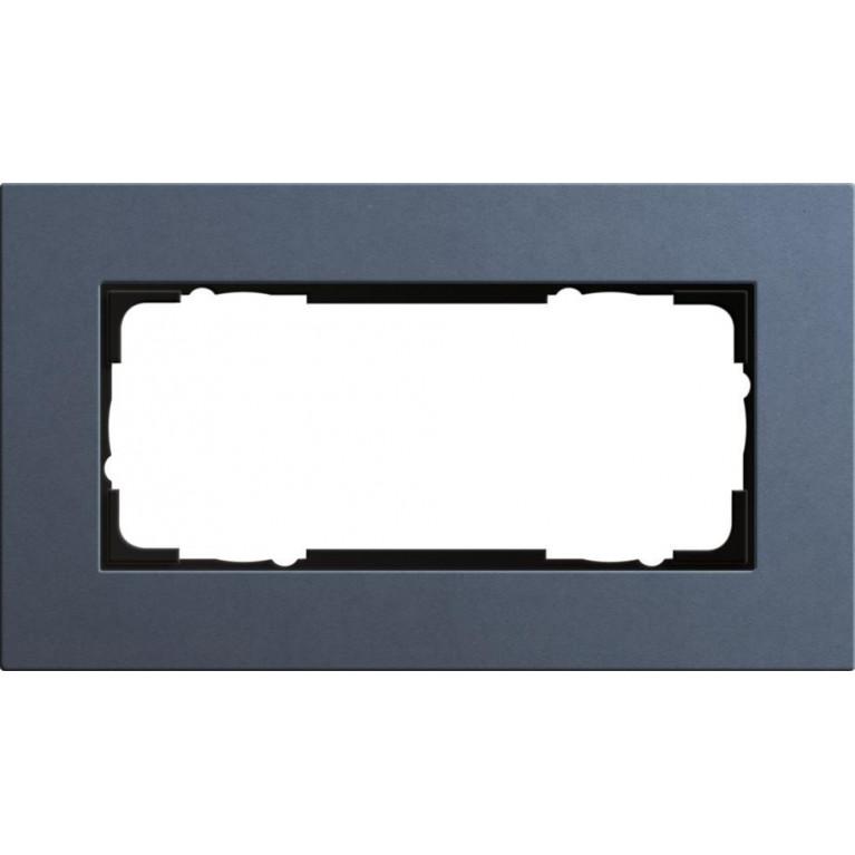Рамка 2-модульная Gira Esprit Lenoleum-Multiplex синий 1002227