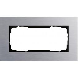 Рамка 2-модульная Gira Esprit алюминий 100217