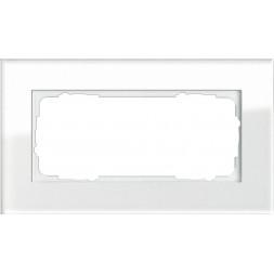 Рамка 2-модульная Gira Esprit белое стекло 100212