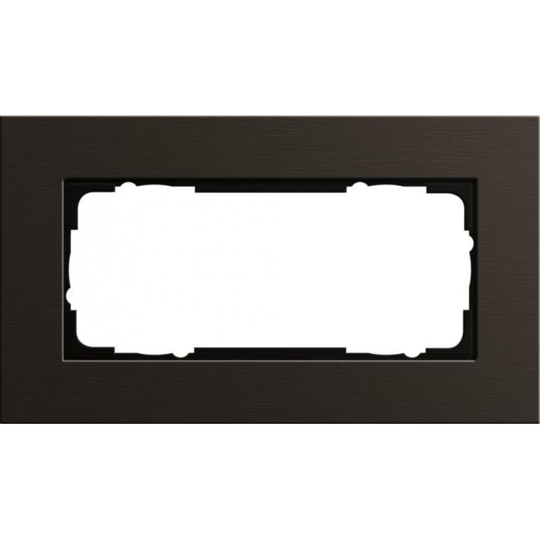 Рамка 2-модульная Gira Esprit коричневый 1002127