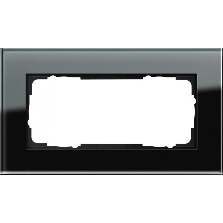 Рамка 2-модульная Gira Esprit черное стекло 100205
