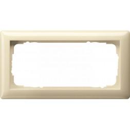 Рамка 2-модульная Gira Standard 55 кремовый глянцевый 100201