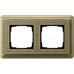 Рамка 2-постовая Gira ClassiX Art бронза 0212661