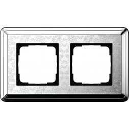 Рамка 2-постовая Gira ClassiX Art хром 0212681