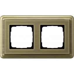 Рамка 2-постовая Gira ClassiX бронза 0212621