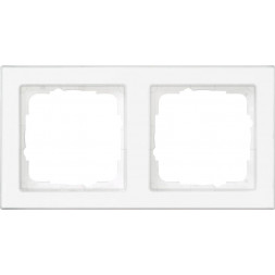 Рамка 2-постовая Gira E2 полностью надписываемая чисто-белый глянцевый 071222