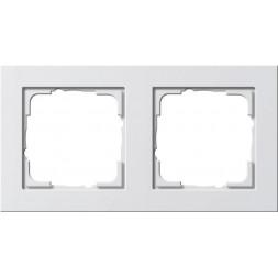 Рамка 2-постовая Gira E2 чисто-белый глянцевый 021229