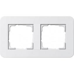Рамка 2-постовая Gira E3 белый глянцевый 0212410