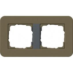 Рамка 2-постовая Gira E3 дымчатый/антрацит 0212426