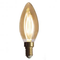 Лампа светодиодная филаментная диммируемая E14 4W 2200K золотая 057-097