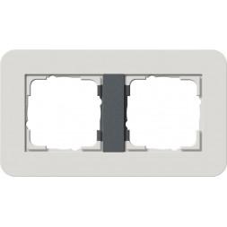 Рамка 2-постовая Gira E3 светло-серый/антрацит 0212421