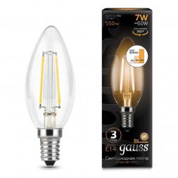 Лампа светодиодная филаментная диммируемая E14 7W 2700K прозрачная 103801107-S