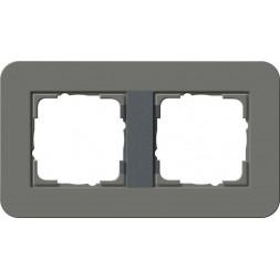 Рамка 2-постовая Gira E3 темно-серый/антрацит 0212423