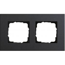 Рамка 2-постовая Gira Esprit Lenoleum-Multiplex антрацит 0212226