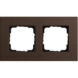 Рамка 2-постовая Gira Esprit Lenoleum-Multiplex коричневый 0212223