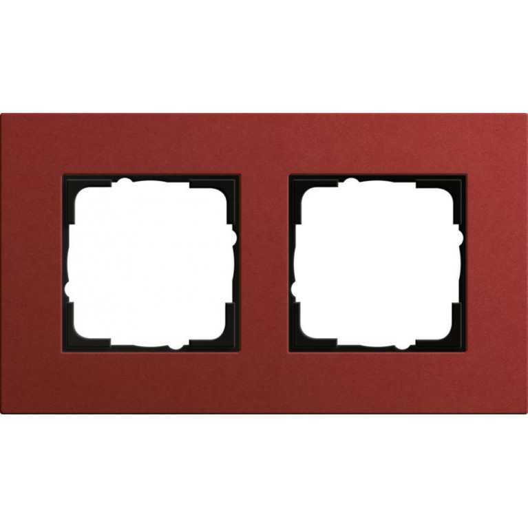 Рамка 2-постовая Gira Esprit Lenoleum-Multiplex красный 0212229