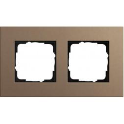 Рамка 2-постовая Gira Esprit Lenoleum-Multiplex светло-коричневый 0212221