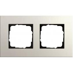 Рамка 2-постовая Gira Esprit Lenoleum-Multiplex светло-серый 0212220