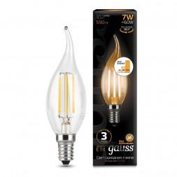 Лампа светодиодная филаментная диммируемая E14 7W 2700K прозрачная 104801107-S