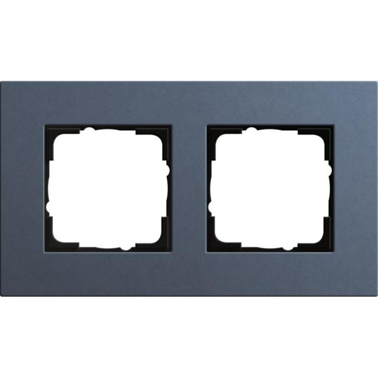 Рамка 2-постовая Gira Esprit Lenoleum-Multiplex синий 0212227