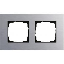 Рамка 2-постовая Gira Esprit алюминий 021217