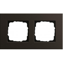 Рамка 2-постовая Gira Esprit коричневый 0212127