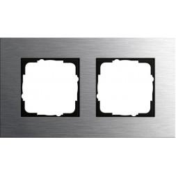 Рамка 2-постовая Gira Esprit нержавеющая сталь 0212219