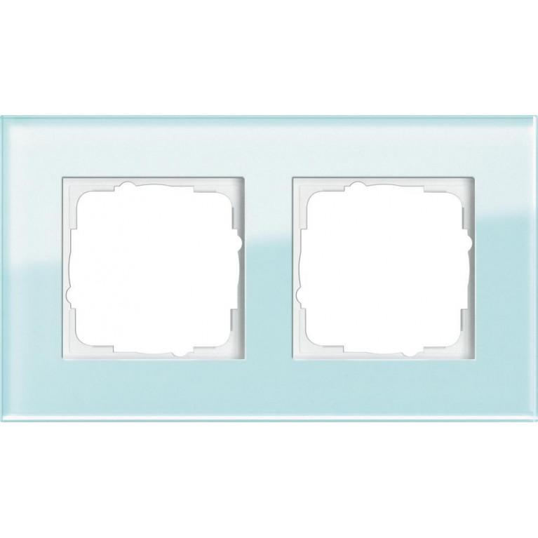Рамка 2-постовая Gira Esprit салатовое стекло 021218