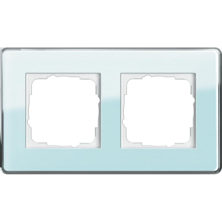 Рамка 2-постовая Gira Esprit салатовое стекло С 0212518