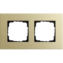 Рамка 2-постовая Gira Esprit светло-золотой 0212217