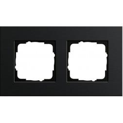Рамка 2-постовая Gira Esprit черный 0212126