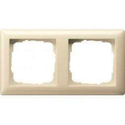Рамка 2-постовая Gira Standard 55 кремовый глянцевый 021201