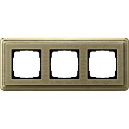 Рамка 3-постовая Gira ClassiX Art бронза 0213661