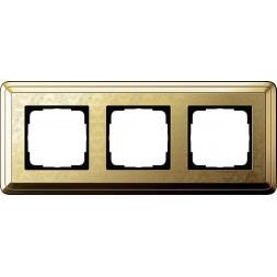 Рамка 3-постовая Gira ClassiX Art латунь 0213671