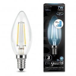 Лампа светодиодная филаментная диммируемая E14 7W 4100K прозрачная 103801207-S
