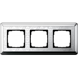 Рамка 3-постовая Gira ClassiX Art хром 0213681