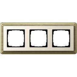 Рамка 3-постовая Gira ClassiX бронза/кремовый 0213623
