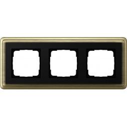 Рамка 3-постовая Gira ClassiX бронза/черный 0213622