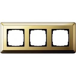 Рамка 3-постовая Gira ClassiX латунь 0213631